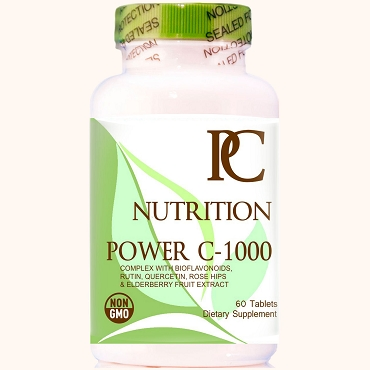 Power C 1000 mg with Black Elderberry and Bioflavonoids for Immune Support . Non-GMO and Vegetarian Friendly.